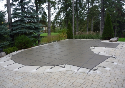 Safety Cover with concrete boarder